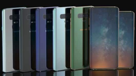 Different colors with multiple screen size options available for Samsung S10.