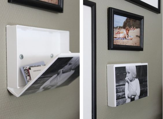 DIY: VHS cassette covers made into wall storage! So clever! Would be great in a bathroom for a first aid kit.: