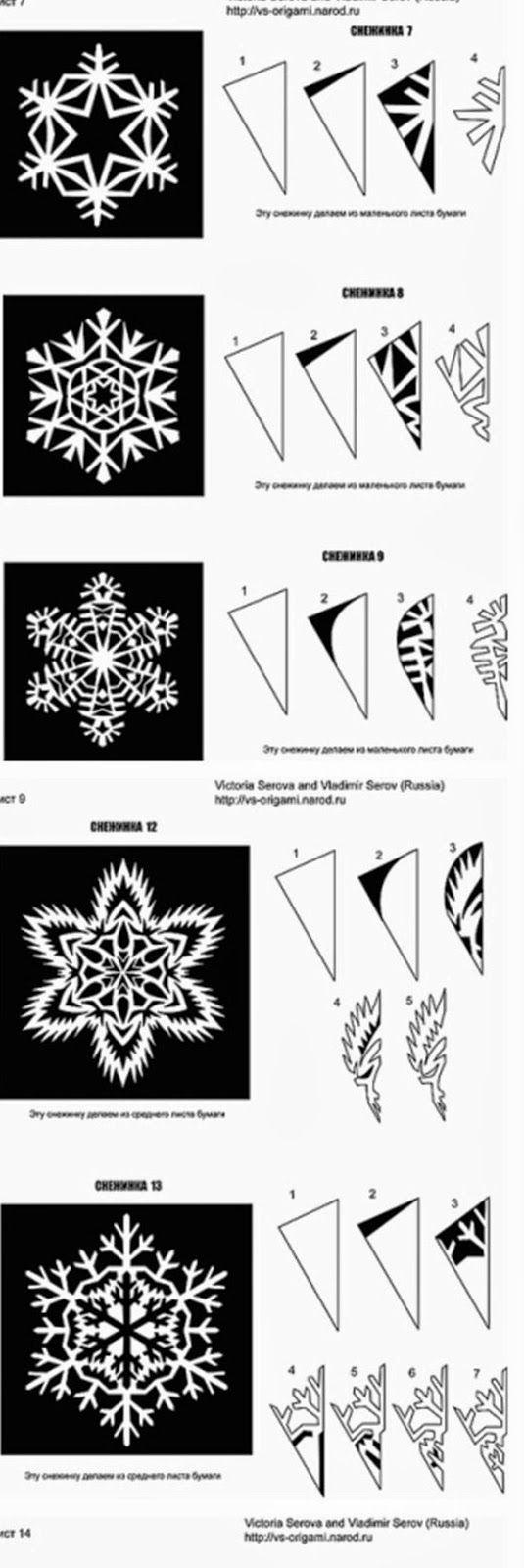 Tutorial per creare bellissimi fiocchi di neve, fatti di carta. Con modelli. #bellissimi #carta #creare #diycraftswithpaper #fatti #fiocchi #modelli #tutorial