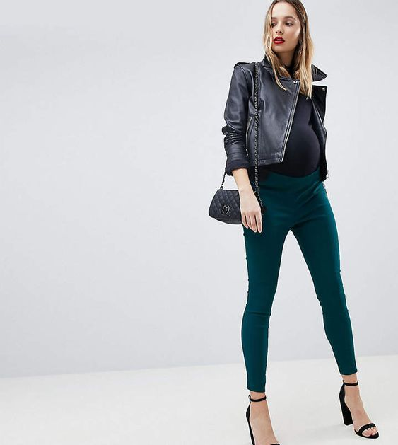 Asos DESIGN Maternity high waist pants in skinny fit