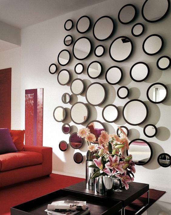 bubble wall mirrors unique home decor