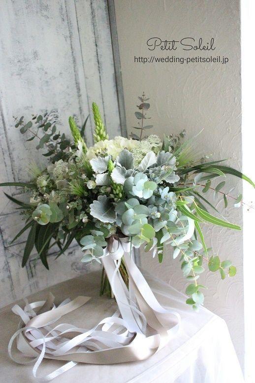 Fabulous Greenery Foliage wedding bouquet....so chic !