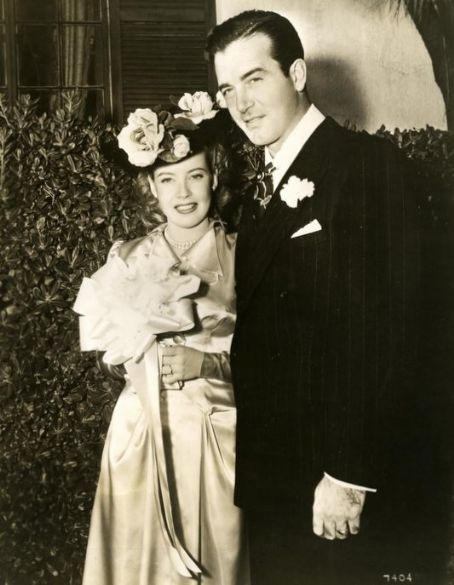 Gloria DeHaven and John Payne on their wedding day.