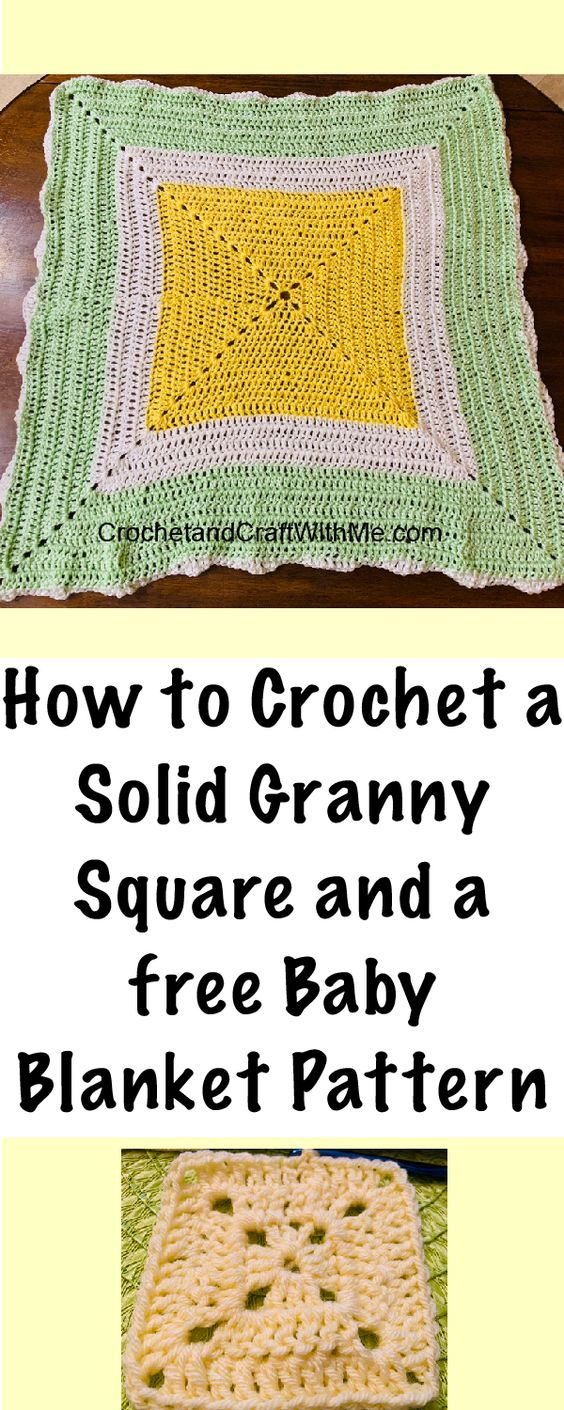 This continuous granny square is perfect for a baby blanket or Afghan!  Free pattern on my blog at CrochetandCraftwithMe.com #crochet #freecrochetpatterns #babyblanket #crochetbabyblanket