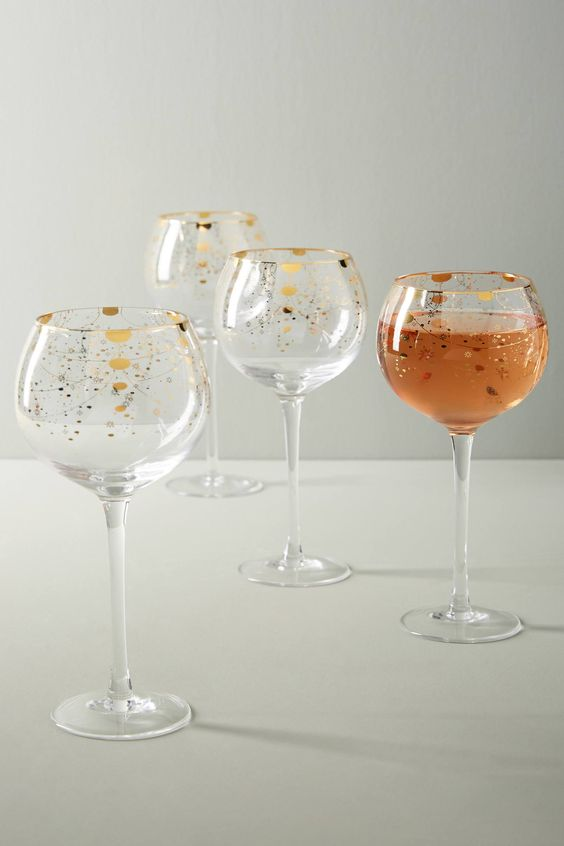 Celine Wine Glasses, Set of 4 | Anthropologie