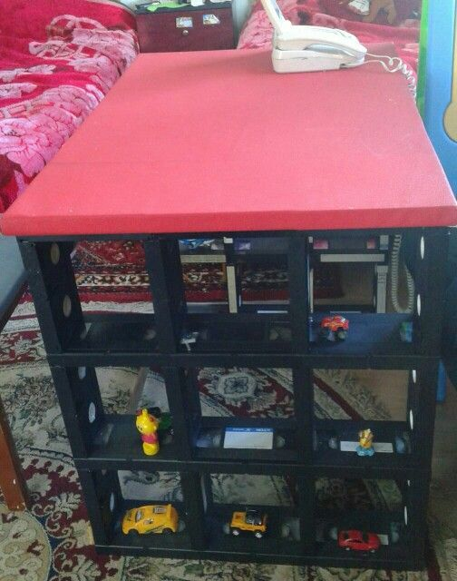 table for kids, made by old VHS tapes: