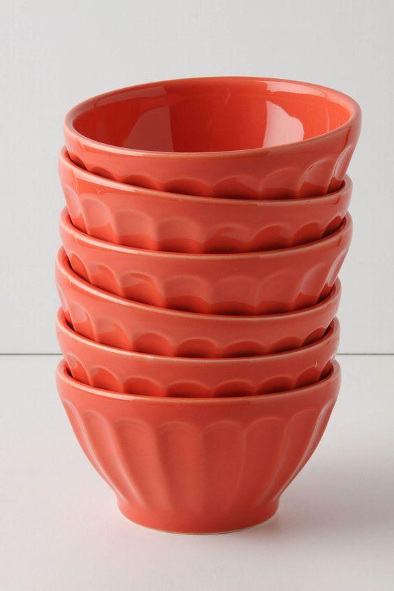 coral latte bowls