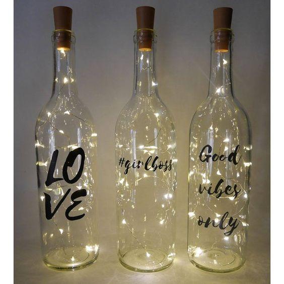 Bottiglia di luce fiaba, idea regalo migliore amico, luci per bottiglie di vino, decorazioni a corda leggera, luce notturna, nuova h