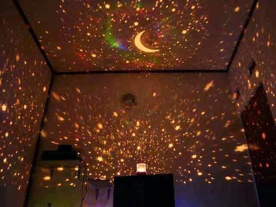 Lampu proyektor motif bulan bintang bisa berputar cocok untuk kado bagi org terkasih harga 80.000