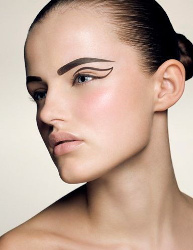 Brows and graphic eye shadow