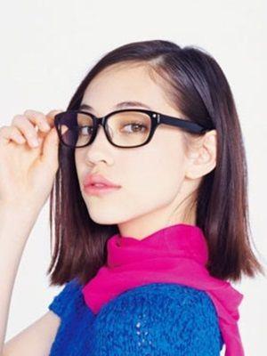 眼鏡で知的なかっこいい水原希子