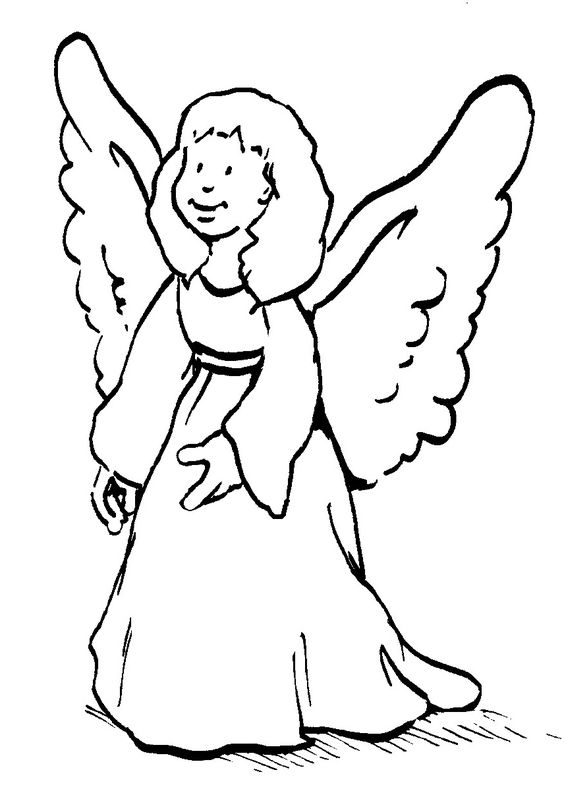 Holzstempel Dein Schutzengel Engel Zeichnen