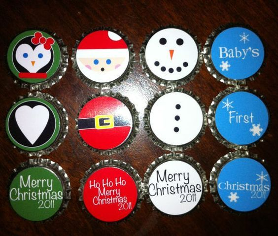 Cute DIY ornaments made from bottle caps!:
