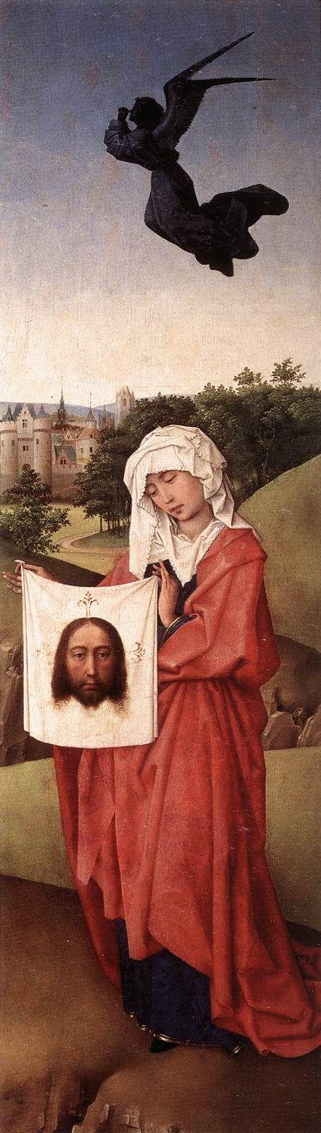 1399 - 1464 Rogier van der Weyden, Triptyque de la crucifixion (aile droite), v. 1445, Kunsthistorisches Museum, Vienne 9d8d48fbc2a526466575f15dbafd4cae