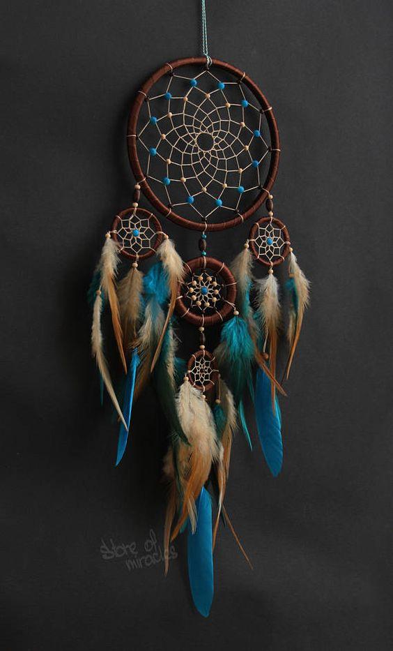 Dreamcatcher Cheveio, che tradotto dalla lingua degli indiani Lakota significa - Guerriero dello Spirito, posso creare un acchiappasogni con piume e perline di diversi colori: azzurro, viola, verde, blu, giallo, rosso, arancione e altri colori. Ogni lavoro è individuale ed è