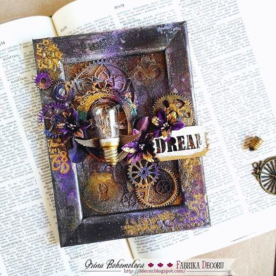 В блоге @fabrikadecoru уже можно почитать как, из чего и зачем я сотворила это миксмедийное панно. Лампочку отдельно я вам уже показывала #fabrikadecoru #фабрикадекору #миксмедиа #пудра #эмбоссинг #скрапбукинг #бумажкинырадости #хобби #scrapbooking #papercraft #creative #handmade #mywork #steampunk #inspiration #like #instalike #followme #dream #мояработа #моймир #соседские_цветочки