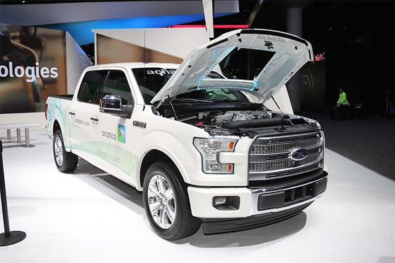 Ford F-150 outfitted with the Achates engine giving higher fuel efficiency.