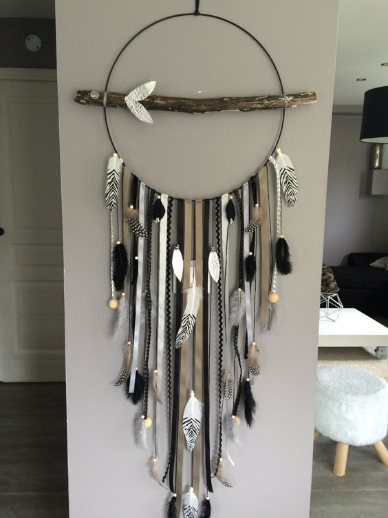 Dream Catcher / dreamcatcher GEANT in driftwood: Nursery, baby di marcelmeduse