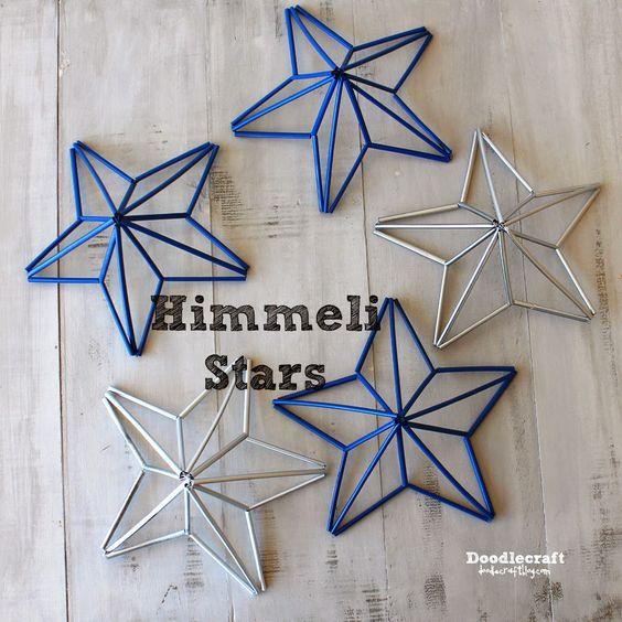 Ghirlanda o ghirlanda di stelle patriottiche Himmeli! Grande swag di stelle per un piccolo arredamento patriottico! Per prima cosa devi fare ...