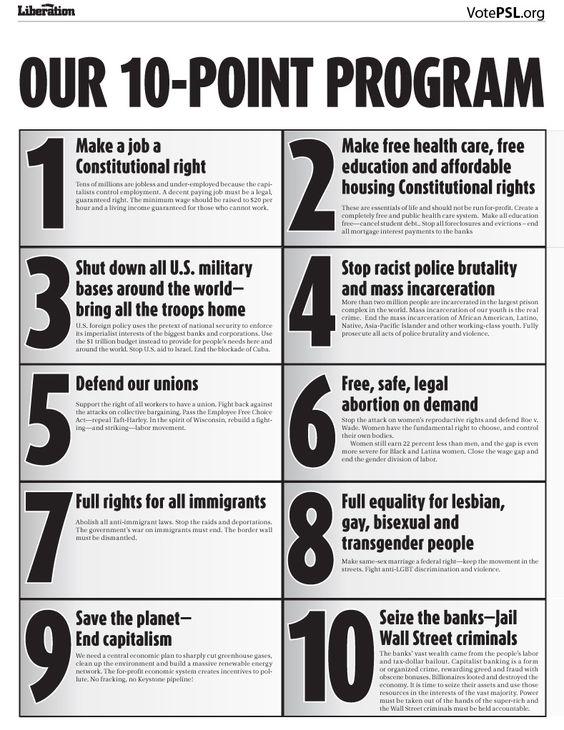 PSL's 10 Point Program