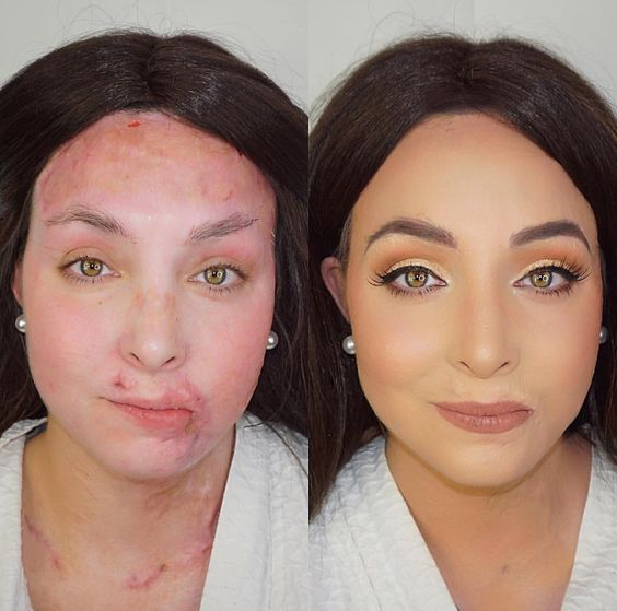 Amazing transformation by @makeupbycorey