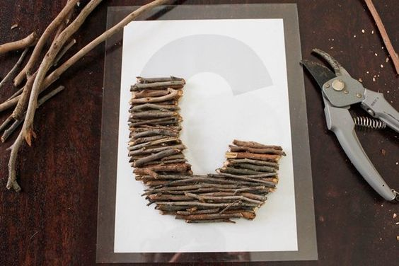 Stick letter art - stage 2