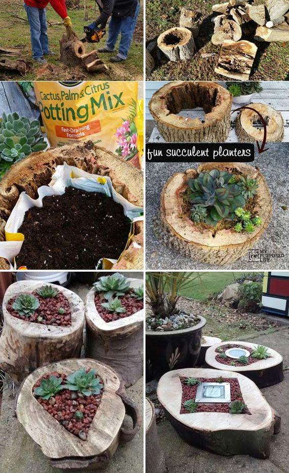 NapadyNavody.sk   19 skvelých ''urob si sám'' nápadov na využitie guľatiny a kmeňa stromu vo vašej záhrade.