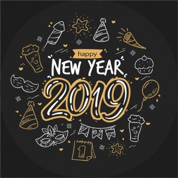 Hand-drawn-new-year-2019,new-year-2019-