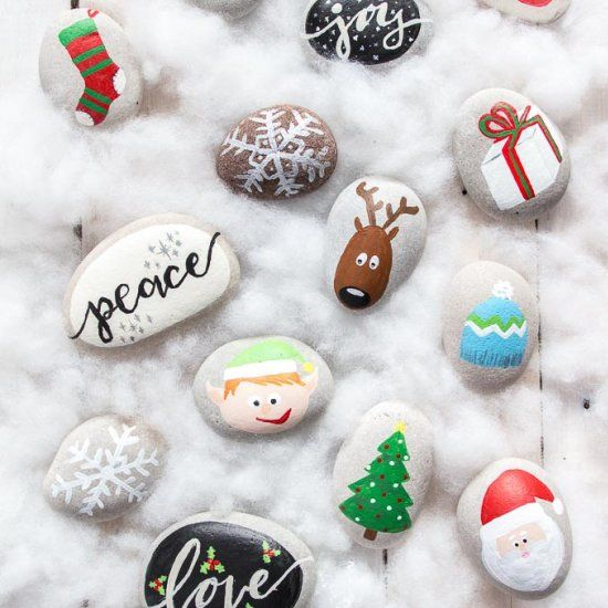 Get crafty with the family over the holidays with over a dozen fun and festive Christmas rock painting ideas. Fun stocking stuffers as well!