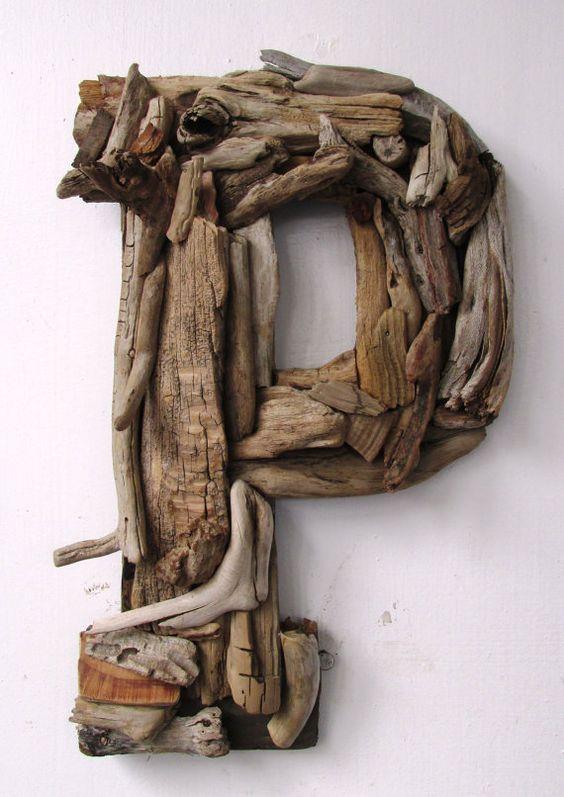 Large Custom Driftwood LettersCoastal Home by PeaceLoveDriftwood