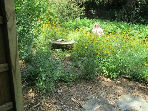 Sunken Gardens... Person was not there when we took the picture she appears in  few pics