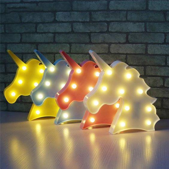 Vvcare BC-NL04 Led Night Light for Kids Unicorn Giraffe Bedroom Bedside Lamp Room Party Decorations - Banggood Mobile