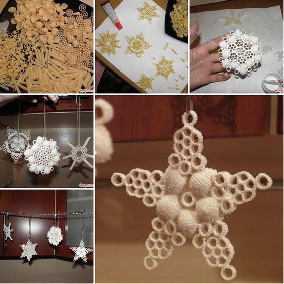 Come creare dei fiocchi di neve con la pasta