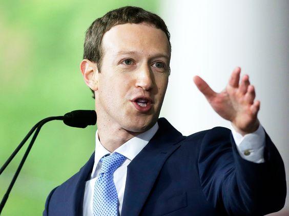 Mark Zukerberg, the CEO of Facebook