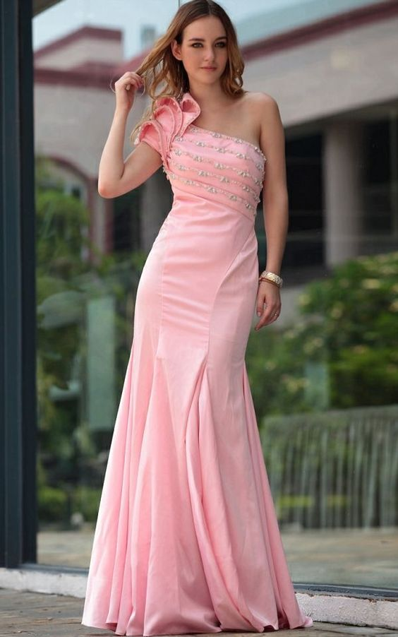 This pink wedding dress is sure to make you different