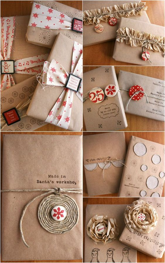 Gifts Wrapping & Package : Christmas Inspiration ● 8 Techniques for Gift Wrapping with Kraft