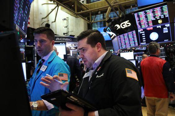 Stock Market trading in progress