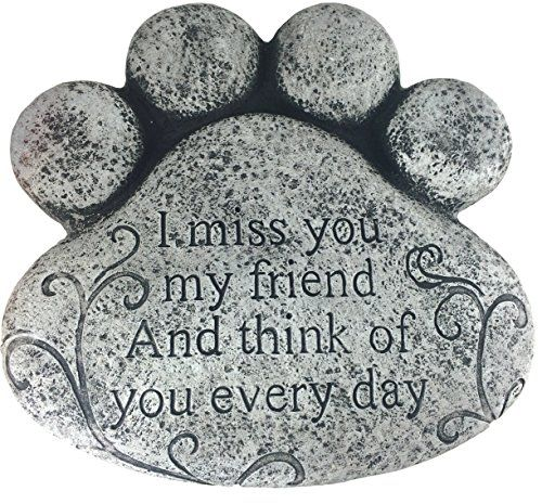 Amazon.com : Paw Print Memorial Stepping Stone 10