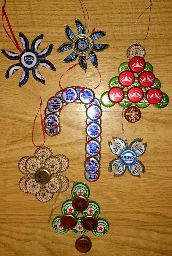 Beer Cap Xmas Ornaments