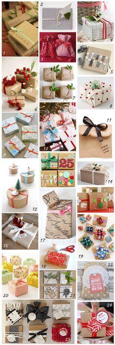 DIY wrapping ideas almagra32: DIY: envolviendo los regalos