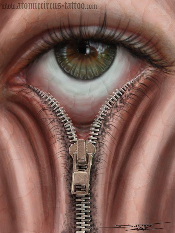 Zipper eye by AtomiccircuS.deviantart.com on @deviantART