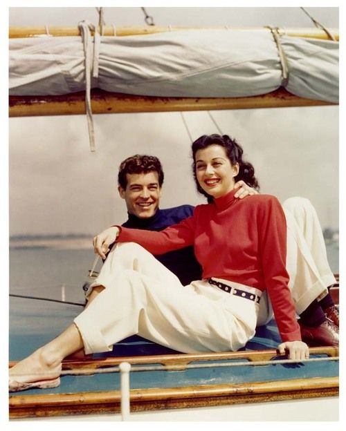 Guy Madison and Gail Russell