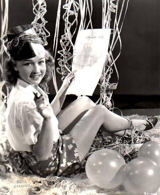Bonita Granville celebrating the New Year, circa late 1930s!