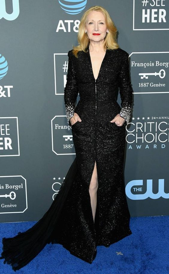 Patricia Clarkson from Critics' Choice Awards 2019 Red Carpet Fashion | E! Online