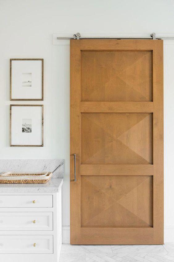 Custom sliding door in bathroom California Traditional Interior Design | Studio McGee Design Blog #InteriorDesignBedroom