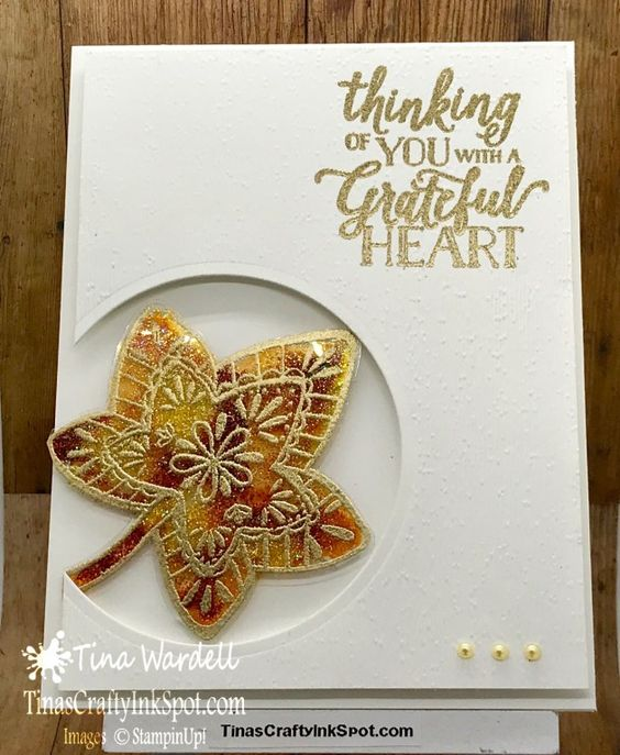Glittered Stained Glass Technique ⋆ Tina Wardell~Stampin' Up! Independent Demonstrator - Falling for Leaves