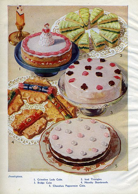 Vintage Dessert Illustration