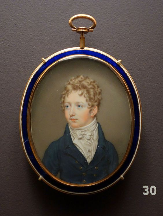 William Henry West Betty by John Smart, England, 1806, watercolor on ivory.