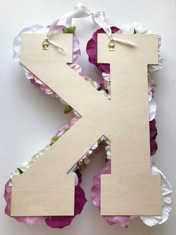 Lettere grandi floreale lettera matrimonio di fiori | Etsy