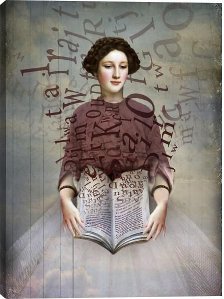 This The Storybook Figurative Canvas Wall Art giclee print by Catrin Welz-Stein is created using fade resistant inks and gallery-wrapped giving it a museum quality finish.